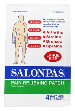 Salonpas - Pain Relieving Patch Large Size 5.12 in. x 3.31 in. - 4 Patch(es)