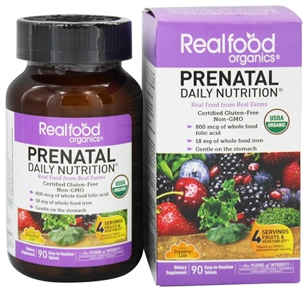 Country Life - Real Food Organics Prenatal Daily Nutrition - 90 Tablets