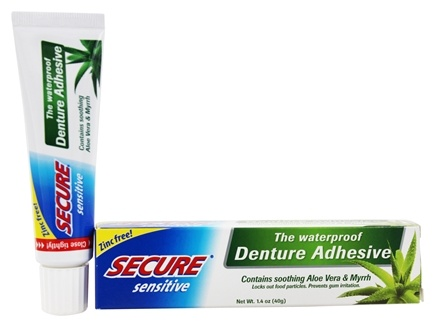 Secure - Sensitive Waterproof Denture Adhesive - 1.4 oz.