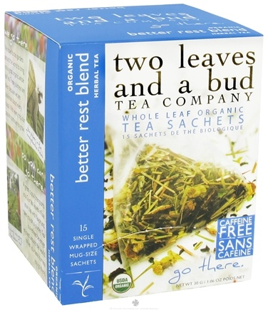 DROPPED: Two Leaves Tea Company - Herbal Tea Organic Better Rest Blend - 15 Tea Bags Formerly Two Leaves and a Bud