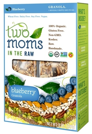 DROPPED: Two Moms in The Raw - Gluten Free Organic Granola Blueberry - 8 oz.