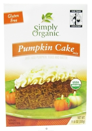 DROPPED: Simply Organic - Pumpkin Cake Mix Gluten Free - 11.6 oz.