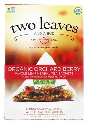 DROPPED: Two Leaves Tea Company - Herbal Tea Organic Pomi-Berry - 15 Tea Bags Formerly Two Leaves and a Bud