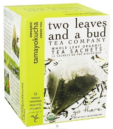 DROPPED: Two Leaves Tea Company - Green Tea Organic Tamayokucha - 15 Tea Bags Formerly Two Leaves and a Bud