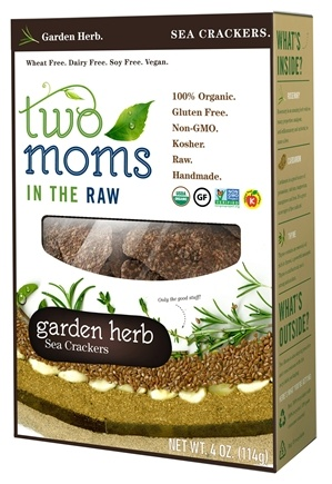 DROPPED: Two Moms in The Raw - Gluten Free Organic Sea Cracker Garden Herb - 4 oz.