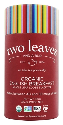 DROPPED: Two Leaves Tea Company - Black Tea Organic English Breakfast Tea - 3.5 oz. Formerly Two Leaves and a Bud