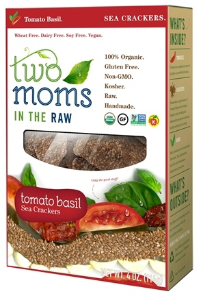 Two Moms in The Raw - Gluten Free Organic Sea Cracker Tomato Basil - 4 oz.