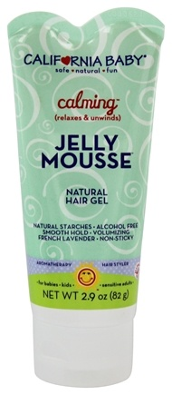 California Baby - Jelly Mousse Natural Hair Gel Calming - 2.9 oz.