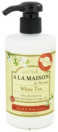 DROPPED: A La Maison - Traditional French Formula Hand & Body Lotion White Tea - 10 oz.