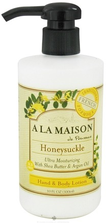 A La Maison - Traditional French Formula Hand & Body Lotion Honeysuckle - 10 oz.