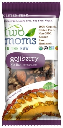 DROPPED: Two Moms in The Raw - Gluten Free Organic Nut Bar Gojiberry - 2 oz.