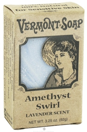 DROPPED: Vermont Soapworks - Bar Soap Amethyst Swirl - 3.25 oz. CLEARANCE PRICED