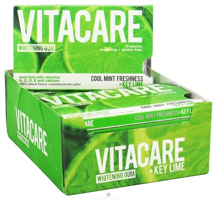 DROPPED: Vitacare - Whitening Gum Cool Mint Freshness + Key Lime - 12 Piece(s) CLEARANCE PRICED