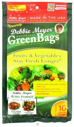 DROPPED: Evert-Fresh Corp. - Debbie Meyer Green Bags - 10 Large Bags