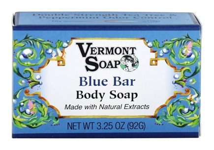 DROPPED: Vermont Soapworks - Bar Soap Blue Bar Tea Tree & Peppermint - 3.25 oz.