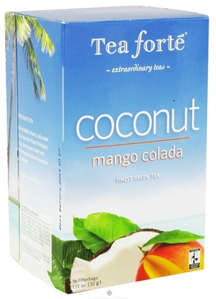 DROPPED: Tea Forte - Coconut Tea Mango Colada - 16 Tea Bags