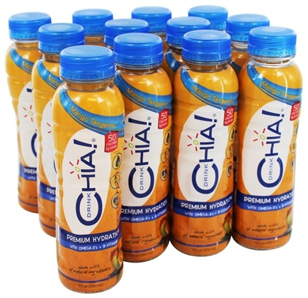 Drink Chia - Whole Omega-3 Superfood Drink Mango Tangerine - 12 oz.
