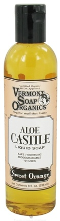 DROPPED: Vermont Soapworks - Aloe Castile Liquid Soap Sweet Orange - 8 oz. CLEARANCE PRICED