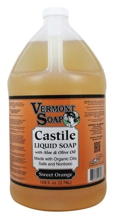 Vermont Soapworks - Aloe Castile Liquid Soap Sweet Orange - 1 Gallon