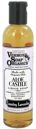 DROPPED: Vermont Soapworks - Aloe Castile Liquid Soap Country Lavender - 8 oz. CLEARANCE PRICED