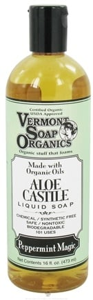 DROPPED: Vermont Soapworks - Aloe Castile Liquid Soap Peppermint Magic - 16 oz. CLEARANCE PRICED