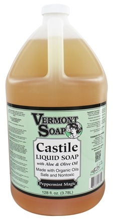 Vermont Soapworks - Aloe Castile Liquid Soap Peppermint Magic - 1 Gallon