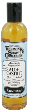 DROPPED: Vermont Soapworks - Aloe Castile Liquid Soap Unscented - 8 oz. CLEARANCE PRICED