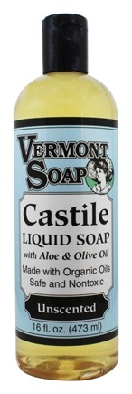 Vermont Soapworks - Aloe Castile Liquid Soap Unscented - 16 oz.