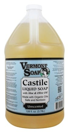Vermont Soapworks - Aloe Castile Liquid Soap Unscented - 1 Gallon