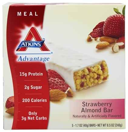 DROPPED: Atkins Nutritionals Inc. - Advantage Meal Bar Strawberry Almond - 5 Bars