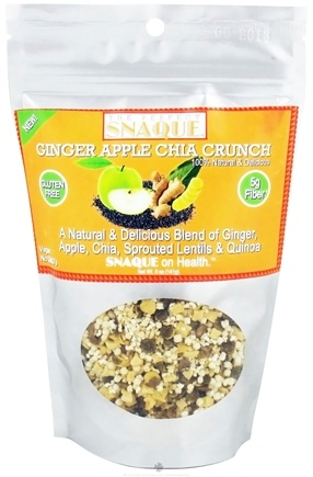 DROPPED: The Perfect Snaque - Chia Crunch Ginger Apple - 5 oz.