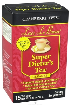 DROPPED: Laci Le Beau - Super Dieter's Tea Cleanse Cranberry Twist - 15 Tea Bags