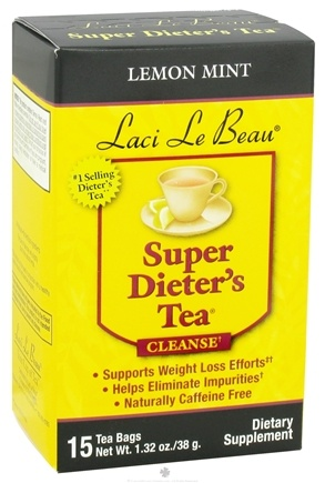 DROPPED: Laci Le Beau - Super Dieter's Tea Cleanse Lemon Mint - 15 Tea Bags CLEARANCE PRICED