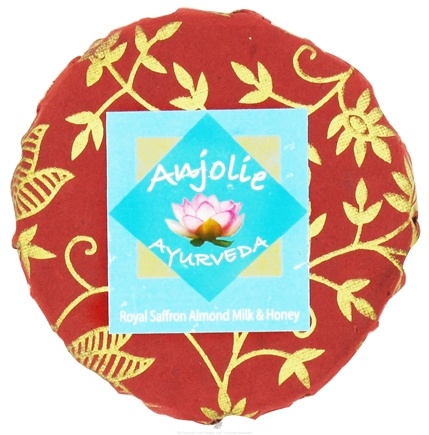 DROPPED: Anjolie Ayurveda - Royal Saffron Almond Milk & Honey Soap - 150 Grams CLEARANCE PRICED
