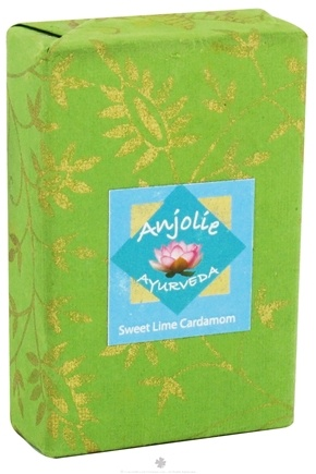 DROPPED: Anjolie Ayurveda - Sweet Lime Cardamom Soap - 100 Grams CLEARANCED PRICED