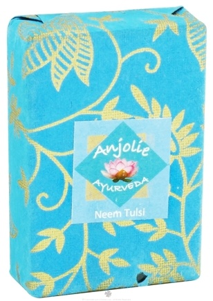 DROPPED: Anjolie Ayurveda - Neem Tulsi Soap - 100 Grams CLEARANCED PRICED