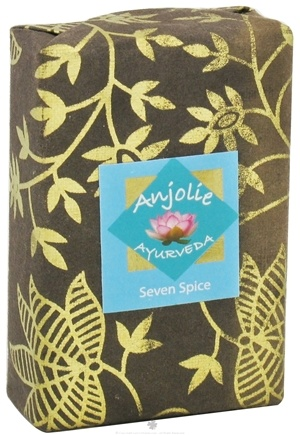 DROPPED: Anjolie Ayurveda - Seven Spice Soap - 100 Grams CLEARANCED PRICED
