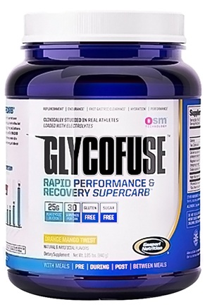 DROPPED: Gaspari Nutrition - GlycoFuse Rapid Performance & Recovery Supercarb Orange Mango Twist - 30 Servings - 1.85 lbs.