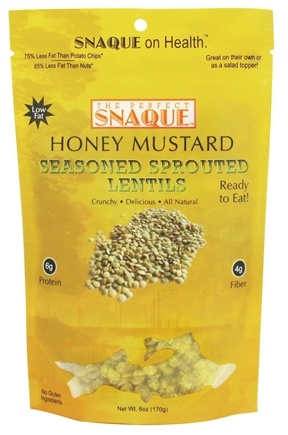 DROPPED: The Perfect Snaque - Seasoned Sprouted Lentils Honey Mustard - 6 oz.