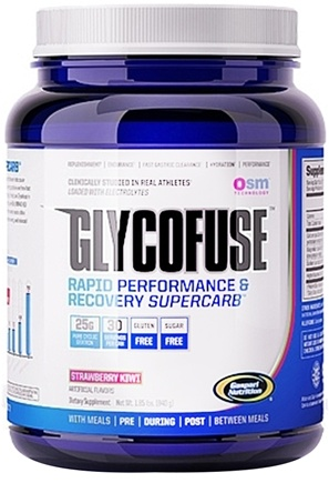 DROPPED: Gaspari Nutrition - GlycoFuse Rapid Performance & Recovery Supercarb Strawberry Kiwi - 30 Servings - 1.85 lbs.