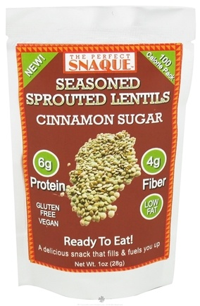 DROPPED: The Perfect Snaque - Seasoned Sprouted Lentils Cinnamon Sugar - 1 oz.