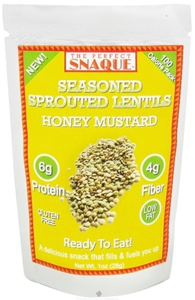 DROPPED: The Perfect Snaque - Seasoned Sprouted Lentils Honey Mustard - 1 oz.