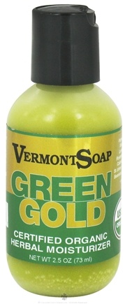 Vermont Soapworks - Green Gold Herbal Moisturizer - 2.5 oz.