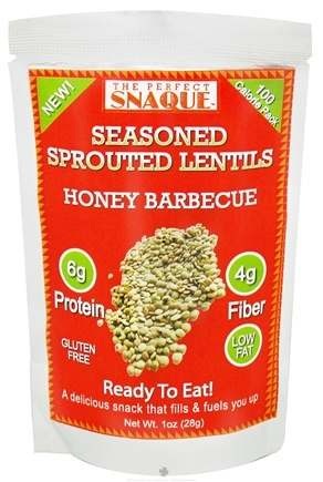 DROPPED: The Perfect Snaque - Seasoned Sprouted Lentils Honey Barbecue - 1 oz.