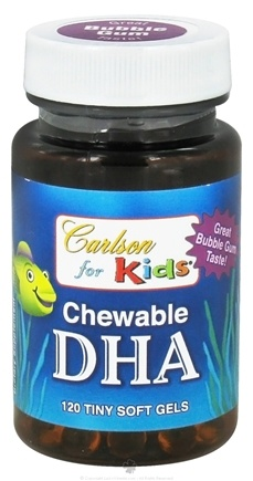 DROPPED: Carlson Labs - Kids Chewable DHA Bubble Gum - 120 Softgels