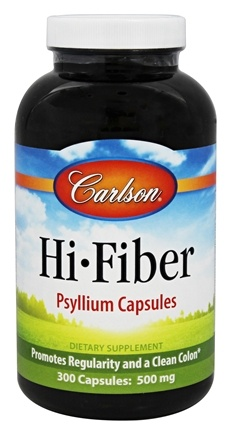 DROPPED: Carlson Labs - Psyllium Fiber Supplement 500 mg. - 300 Capsules CLEARANCE PRICED