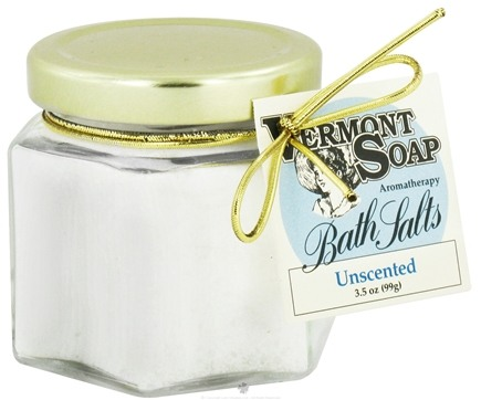 DROPPED: Vermont Soapworks - Bath Salts Aromatherapy Unscented - 3.5 oz. CLEARANCE PRICED