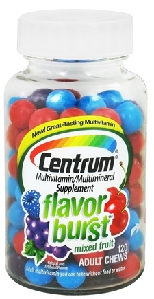 DROPPED: Centrum - Flavor Burst Multivitamin/Multimineral Mixed Fruit Flavor - 120 Chews CLEARANCE PRICED