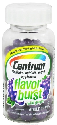 DROPPED: Centrum - Flavor Burst Multivitamin/Multimineral Wild Grape Flavor - 60 Chews CLEARANCE PRICED