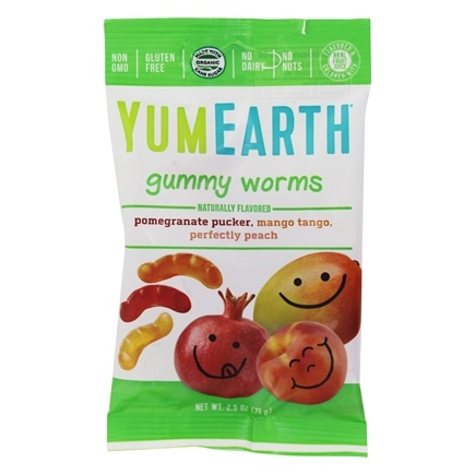Yummy Earth - Organic Gluten Free Gummy Worms - 2.5 oz.